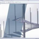 SolidWorks Döner Merdiven Çizimi