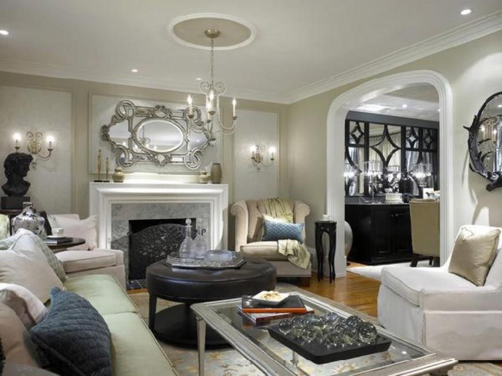 Tasarım ve fikirleri geleneksel oturma odası boya renkler