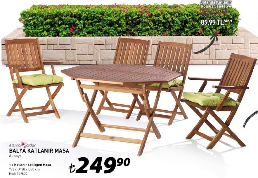 Tekzen Uygun Fiyatlı Katlanabilir Ahşap Masa ve Sandalye