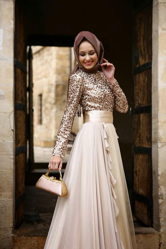 Tesettür Abiye Elbise Modelleri 2015