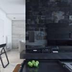 tv ünitesi arkası duvar kağıdı modelleri
