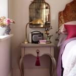 yatak odası dekorasyonu dekor aksesuarlar radyo lamba ayna ve