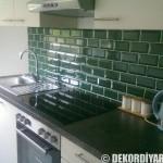 Yeni Yeşil Mutfak Seramik Fayans Örnekleri Mutfak Tezgah