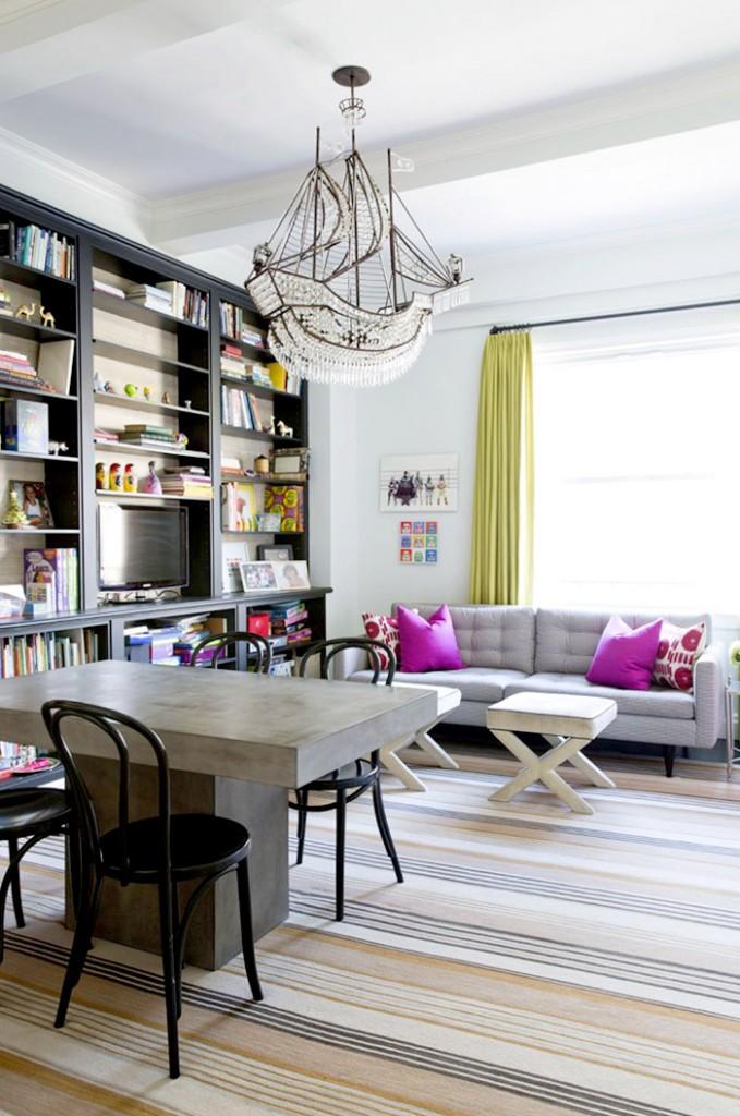 11 Şık Aile Dostu Yaşam Odaları Dekorasyonu 2015