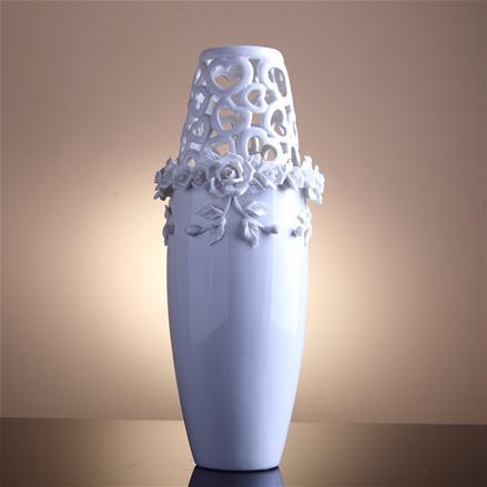 altin kelebekli seramik vazo