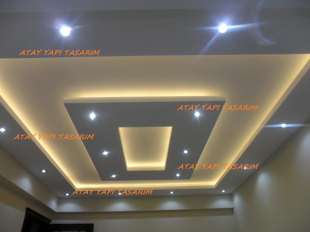 Asma tavan modelleri ev için 2016