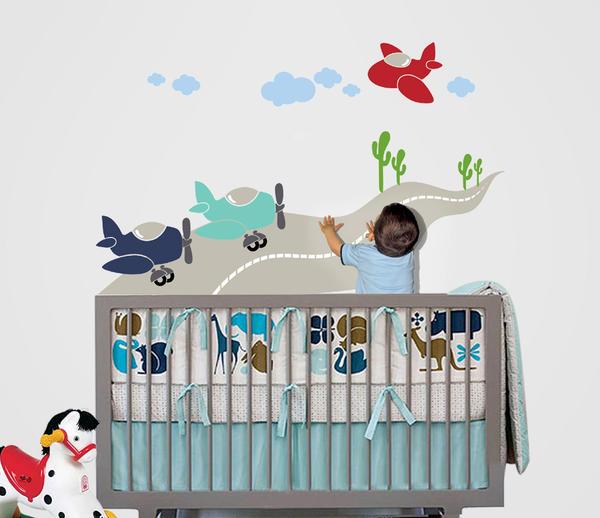 Bebek Odaları İçin En Güzel Duvar Sticker Modelleri 2016