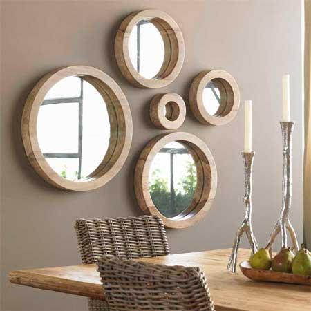 Dekoratif Ayna Modelleri modern aynalar sticker örnekleri
