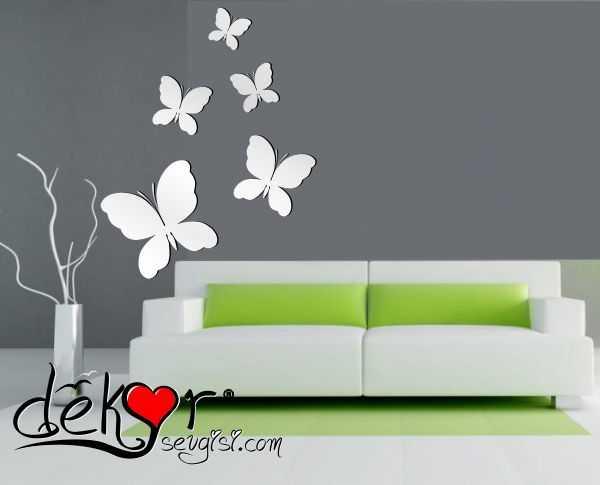 dekoratif kelebek ayna