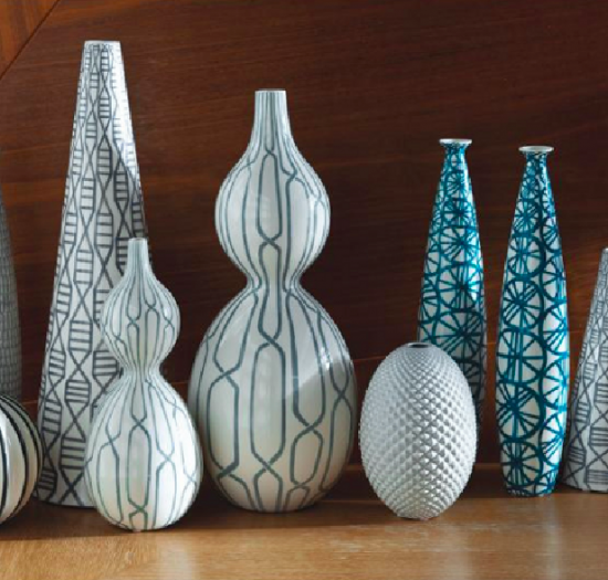 Dekoratif Uzun Vazolar