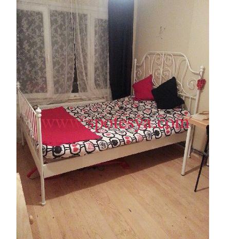 ikea beyaz karyola ve yatak
