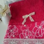 İnci ve dantelli havlu kenarı modeli