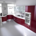 Kırmızı ankastre mutfak dolap modeller