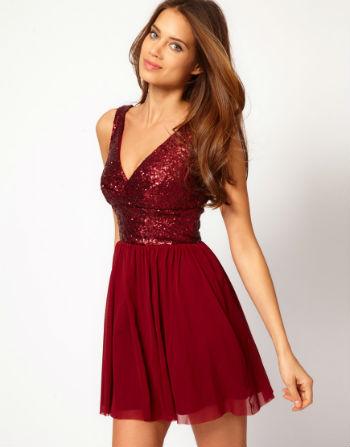 Kırmızı Yılbaşı Elbise Modeli
