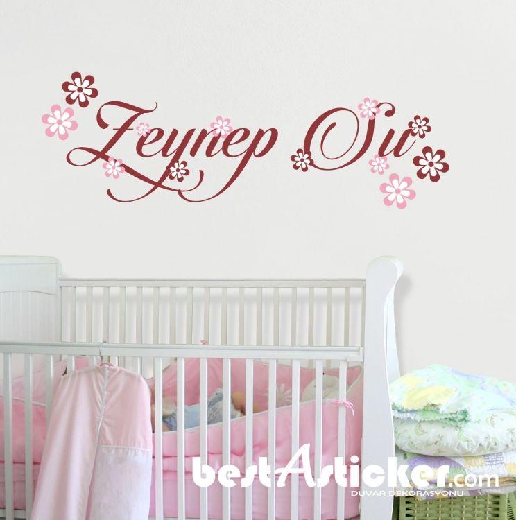Kişiye Özel Kız Bebek Ve Çocuk Odası Duvar Sticker BS(352