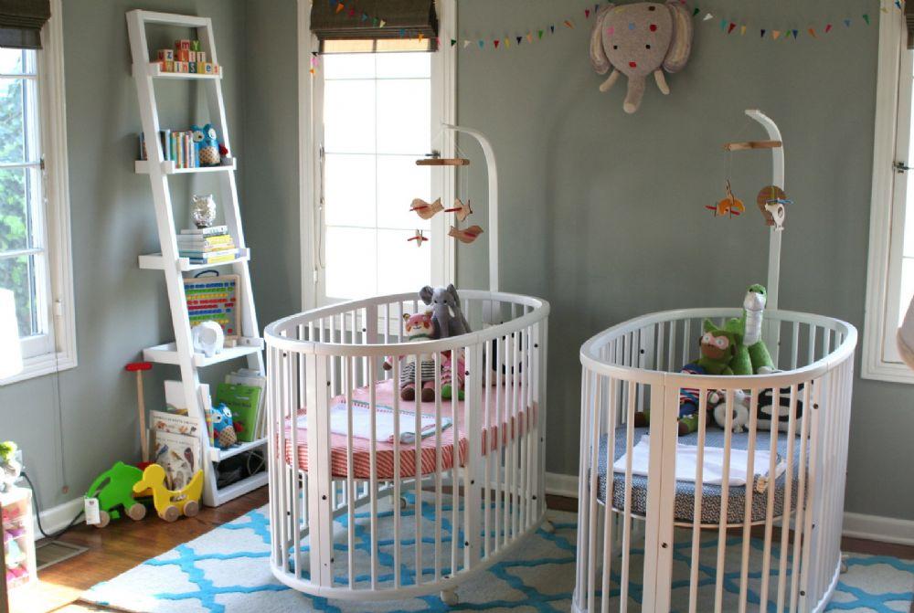kiz erkek ikiz bebek oda dekorasyonu