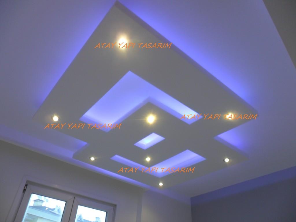 Led gizli ışıklı asma tavan modelleri 2016