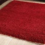 merinos kırmızı shaggy halı modeli
