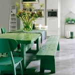 Modern Banklı Mutfak Masaları (16)