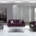 mor ve gri renkli modern koltuk takımı