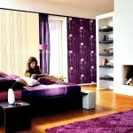 Mor Yatak Odası Dekorasyon Modelleri