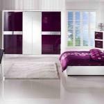 Mor Yatak Odası Dekorasyonu Ve Örtüleri