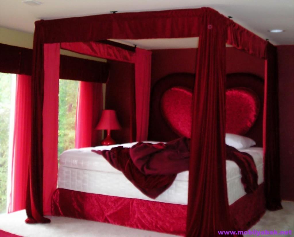Romantik yatak odasi dekorasyonu icin yapmaniz gerekenler