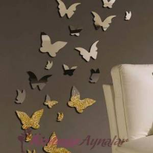Saat,ayna,kelebek Ev Dekor Objeleri GittiGidiyor'da