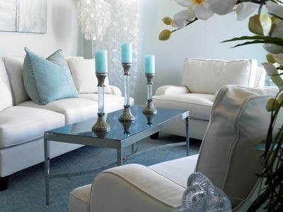 Salonda Mavi Beyaz Renk Şeması