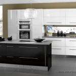 Siyah Beyaz Mutfak Dolapları Modelleri