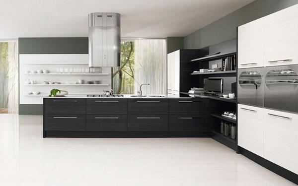 Siyah beyaz mutfak modelleri