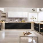Siyah Beyaz Mutfak Modelleri 2015