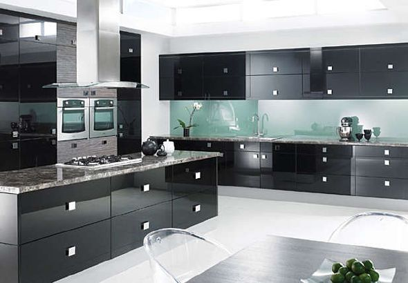 Siyah Beyaz Mutfak Tasarımları