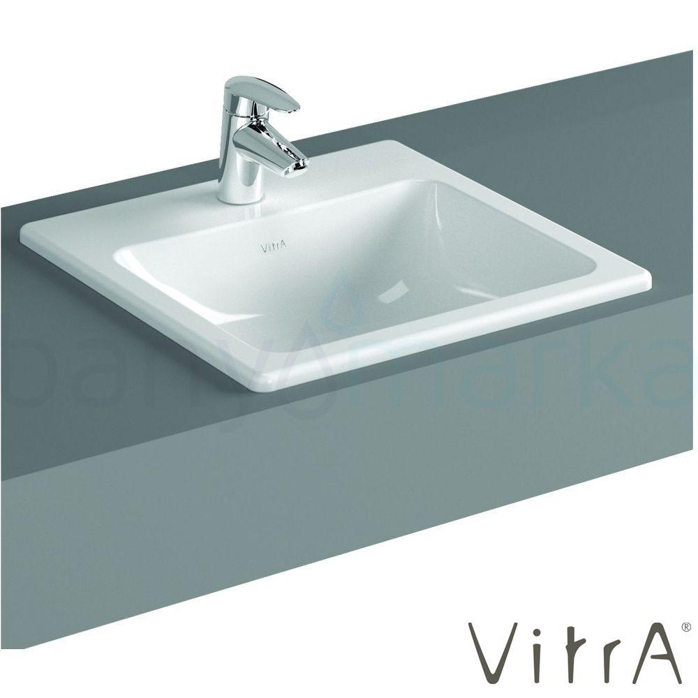Vitra S20 Tezgah Üstü Lavabo, Kare 50 cm