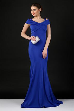 abiye elbise mavi