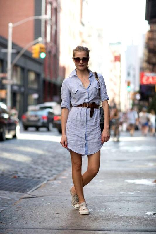Açık Renkli Gömlek Elbise Modelleri »