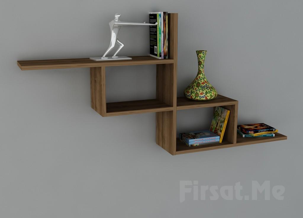 Duvara Monte Kitaplık mı Arıyorsunuz? 2 Ayrı Renk Seçeneği