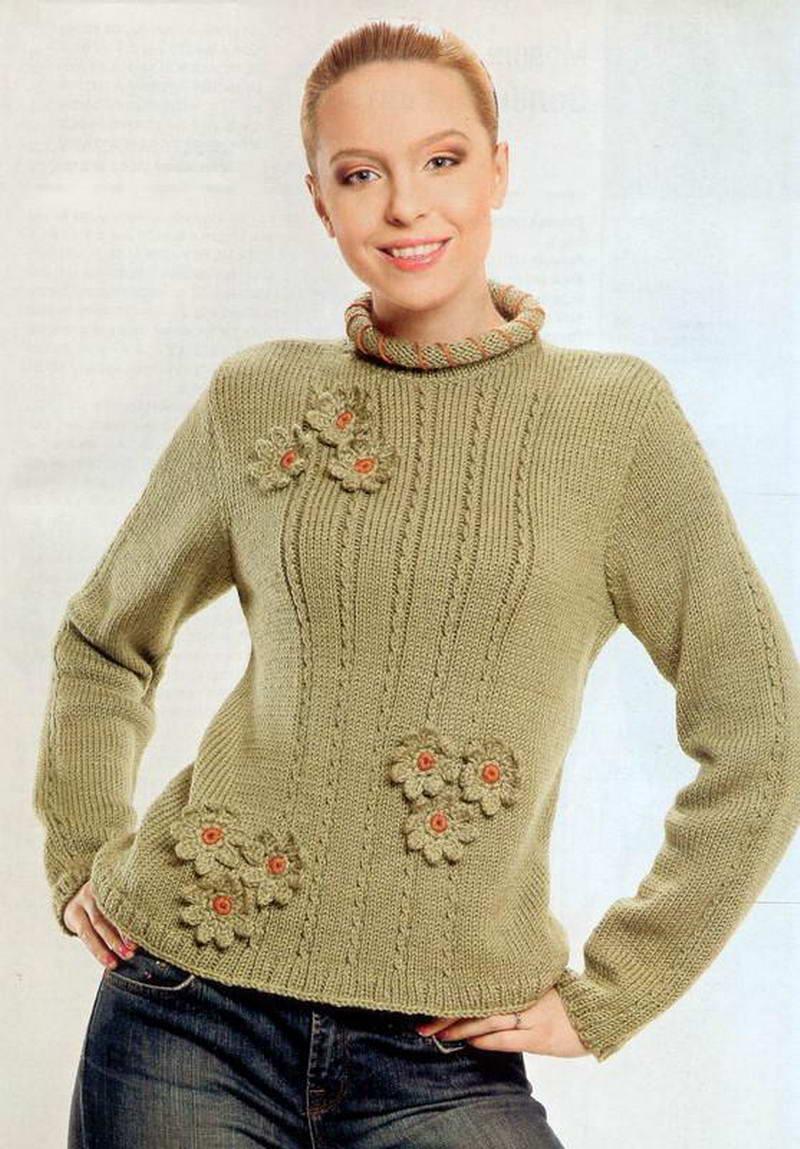 Детский пуловер спицами. Вяжем пуловер своими руками 61