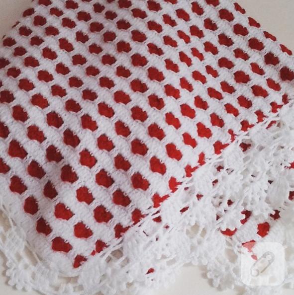Güzelim tığ işi bebek battaniye modelleri