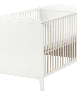 HENSVIK bebek karyolası, beyaz, 60x120 cm