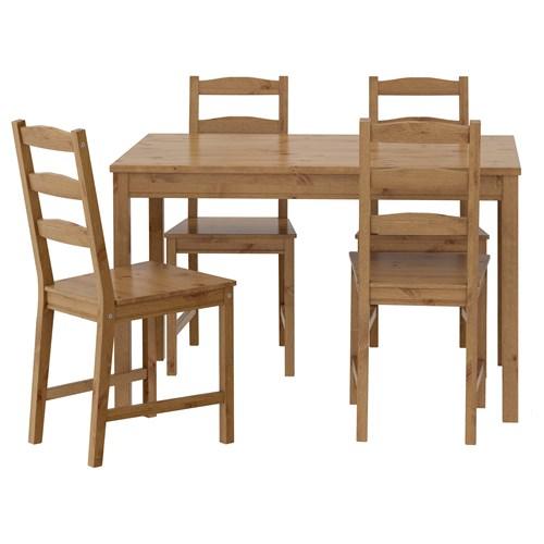 JOKKMOKK yemek masası ve sandalye seti, antika vernik