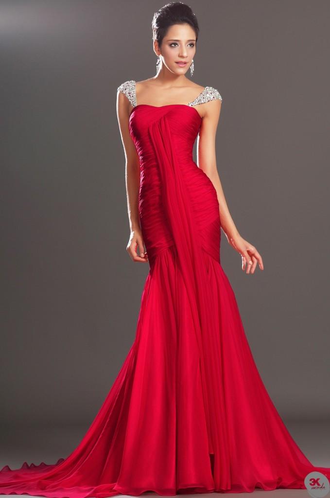 d7f4dc9b10b51 Kırmızı abiye elbise modelleri | Leylara - Her şey burada!