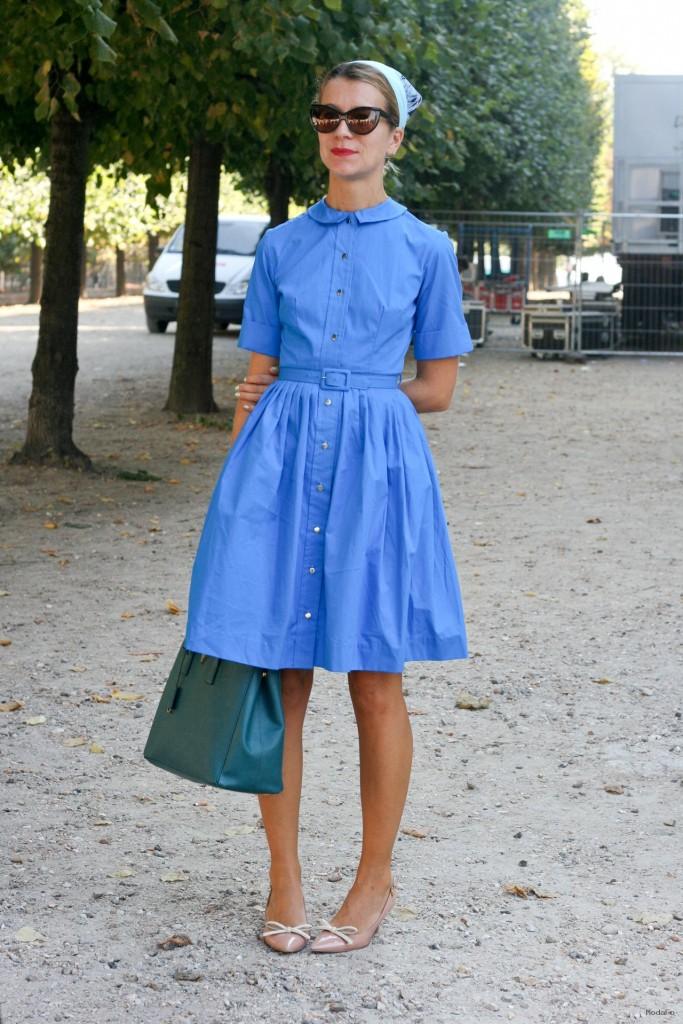 Mavi Gömlek Elbise
