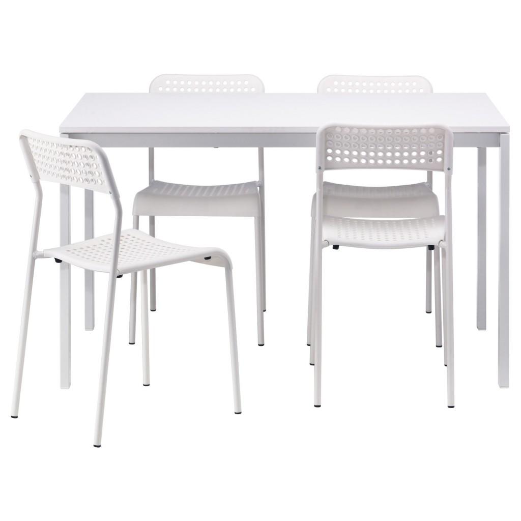 MELLTORP/ADDE yemek masası ve sandalye seti, beyaz