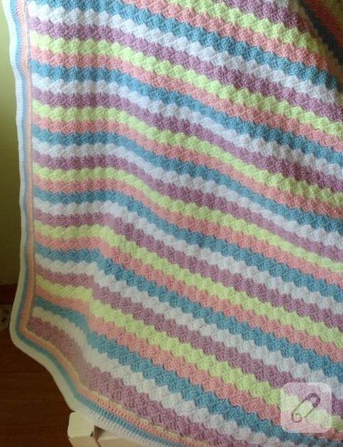 Örgü/tığ işi bebek battaniyeleri, örgü videoları 10marifet