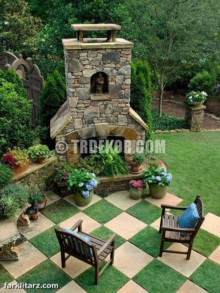 Yeni Tasarım Bahçe Dizaynı Resimleri
