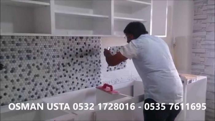 BEYLİKDÜZÜ MUTFAK Tezgah Boncuk Fayans,0532 1728016 - YouTube