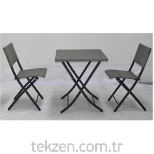 Bistro Masa Sandalye Seti 3 Parça - Tekzen