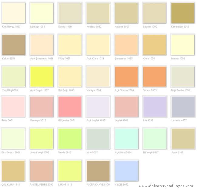 Filli Boya İç Cephe Renk Kataloğu 2013 - Dekorasyon Dünyası