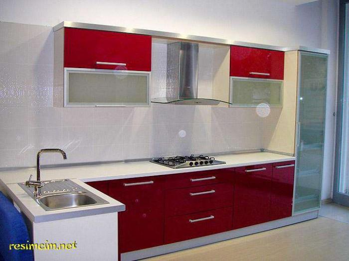 Kırmızı Mutfak Dolabı Modelleri › En Son Dekorasyon Modelleri